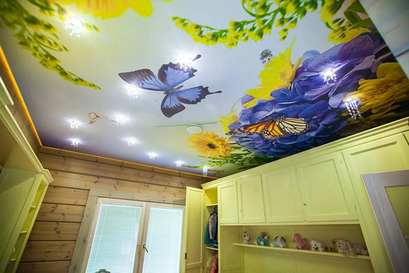 как подобрать фотопечать на натяжной потолок потрясающих внешних